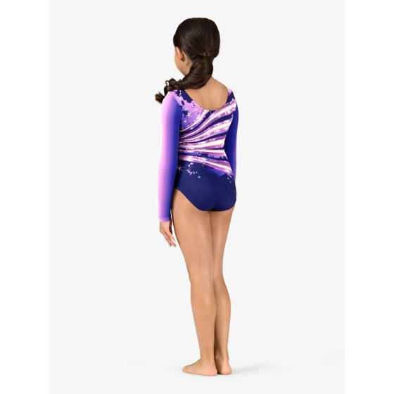2604cfeb107a PERFECTBALANCE - Girls Ombre Sparkle Sublimated Print Long Sleeve ...