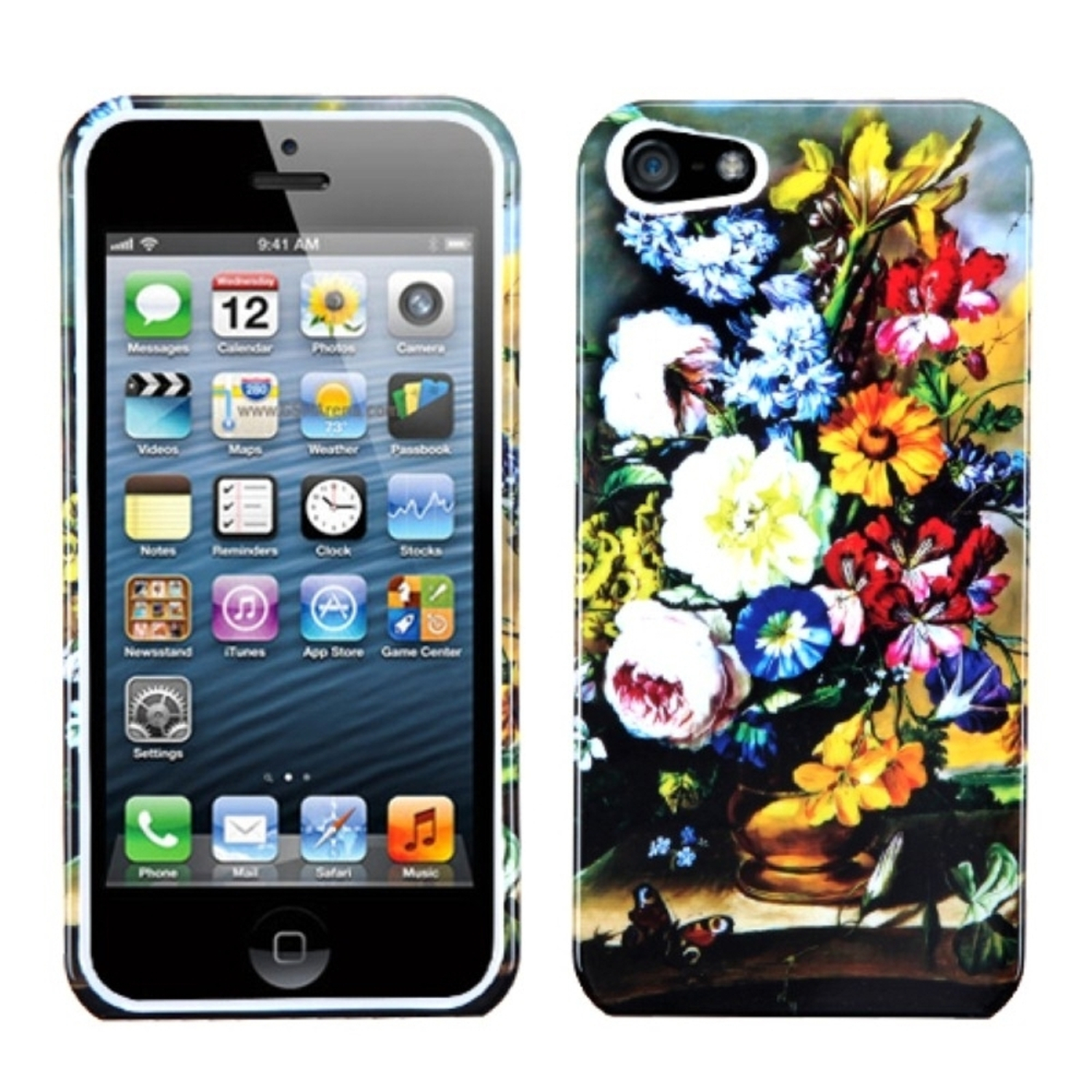 Insten Blumenstilleben Phone Case for Apple iPhone SE / 5S / 5