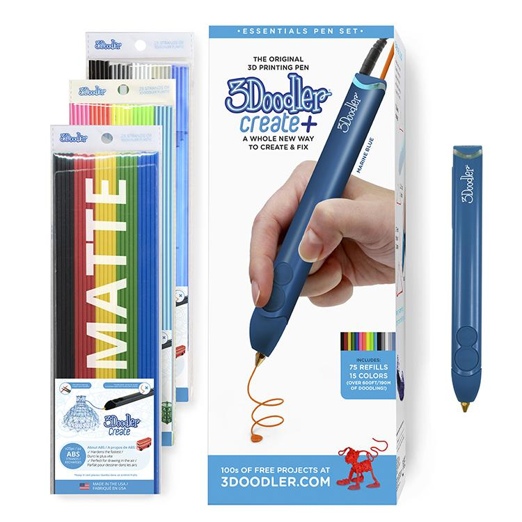 3Doodler Create+ 3D Pen Set with 75 Filaments (600 ft. of Extruded Plastic), Arctic White,... by WobbleWorks, Inc.