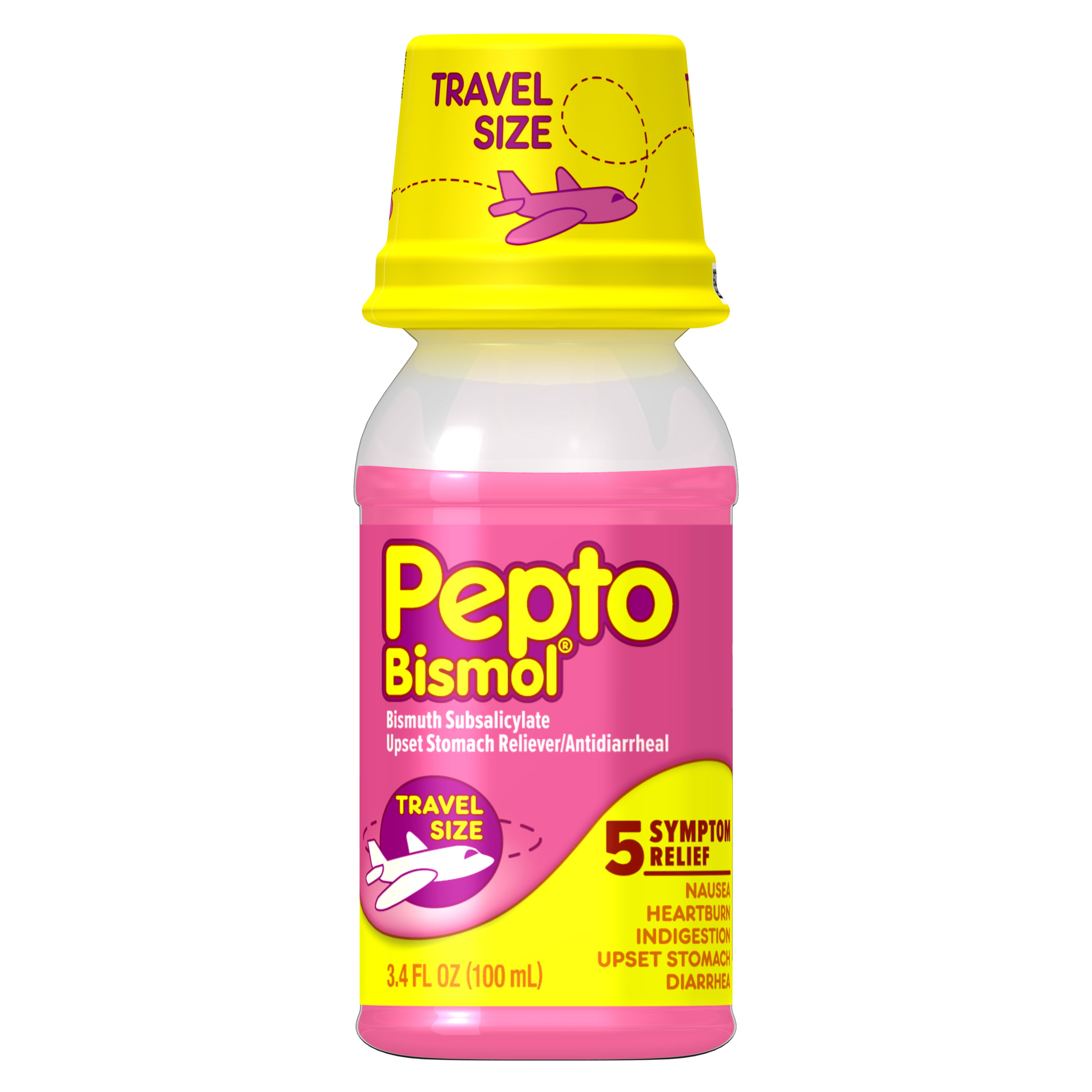 Pepto Bismol Liquid Travel Size For Heartburn Diarrhea Original 3 4oz Walmart Com Walmart Com