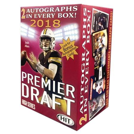 2018 Sage high Draft Picks Premier Draft Football Value Box Trading Cards