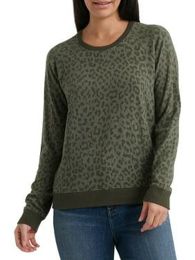 Cheetah Printed Crewneck Sweater