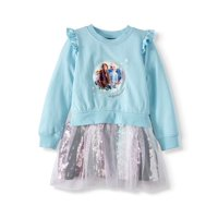 Disney Frozen 2 Ruffle Sleeve Sequin Tutu Dress (Little Girls & Big Girls)