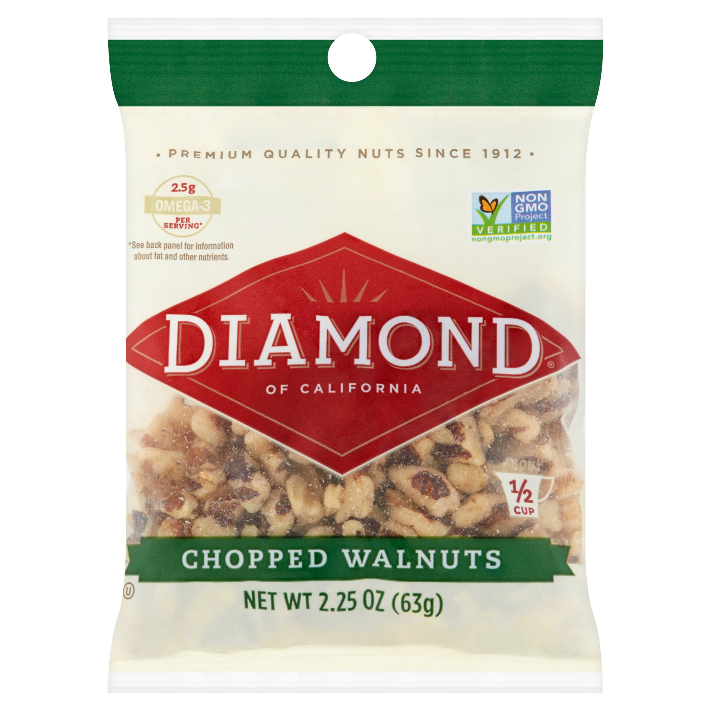 Diamond of California Chopped Walnuts 2.25oz