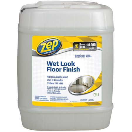 ZEP INC Wet Look Floor Finish, 5-Gals. ZUWLFF5G