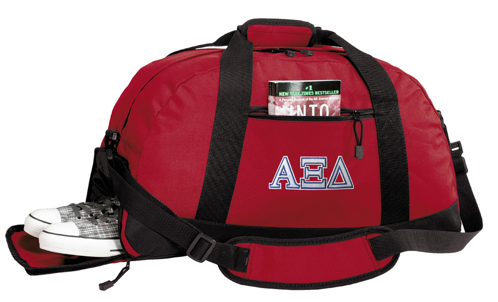 Broad Bay AXiD Sorority Gym Bags Alpha Xi Duffle Bag WITH SHOE POCKET! by