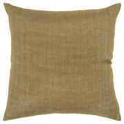 "Rizzy Home Decorative Downfilled Throw Pillow Solid 20""X20"" Gold"