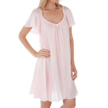 Women's Amanda Rich 146-SH Short Sleeve Knee Length Nightgown