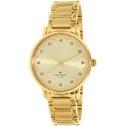 Kate Spade New York Women's Gramercy KSW1047 Gold Stainless-Steel Quartz Fashion Watch