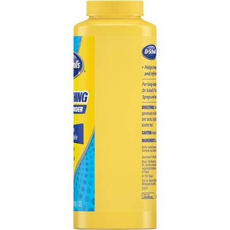 Dr. Scholl's Soothing Foot Powder for Wetness and Odor, 7 Oz