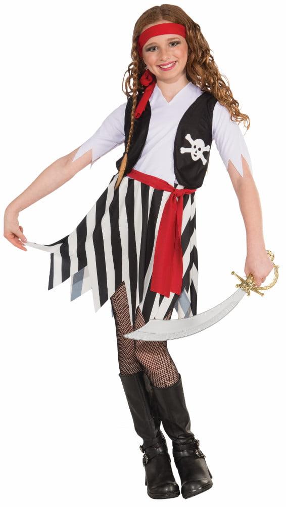 Child Girls Buccaneer Pirate Swashbuckler Jack Sparrow Costume by Forum Novelties