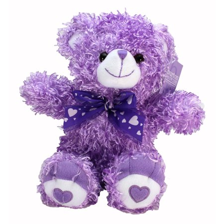 Plush Curly Fur Bear - Purple - Purple Bear