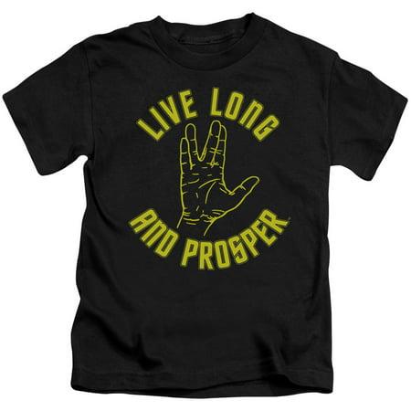 - Star Trek Live Long Hand Little Boys Shirt