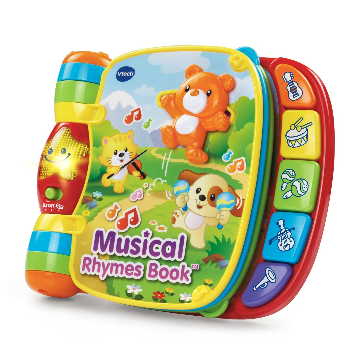 Musical Rhymes Book Interactive Kids Book Has Big Easy To Turn