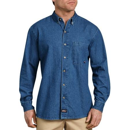 Dickie Balaclava - Genuine Dickies Big Men's Long Sleeve Denim Shirt