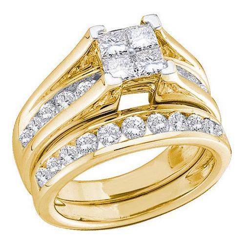 0.52Ctw Diamond Bridal Set Womens Fixed Ring Size - 7