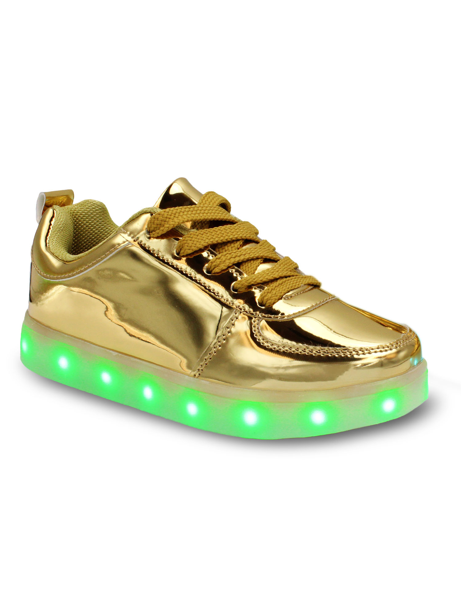 d477224d94b0 Galaxy Shoes - Galaxy LED Shoes Light Up USB Charging Low Top Kids Sneakers  (Pink Glossy) - Walmart.com