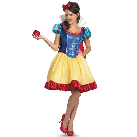Disney Princess Snow White Sassy Deluxe Adult Costume](Disney Princess Dresses Adult)