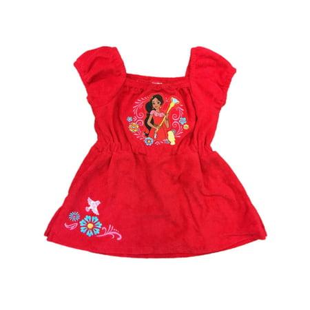 4b37068026edc Disney - Disney Toddler Girls Red Elena of Avalor Swimming Suit Cover Up  Swim Coverup 2T - Walmart.com