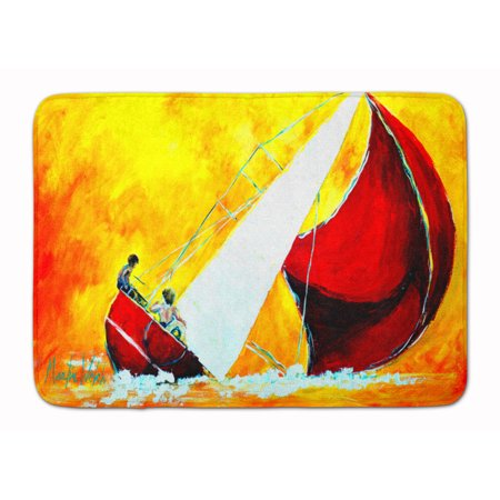 Sailboat Break Away Machine Washable Memory Foam Mat
