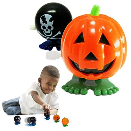 Halloween Pumpkins Toy Cubby Party Favor Jumping WindUp Skull Face Pumpkins 6 Pieces Click Add To Cart and Join The Lucky Bun