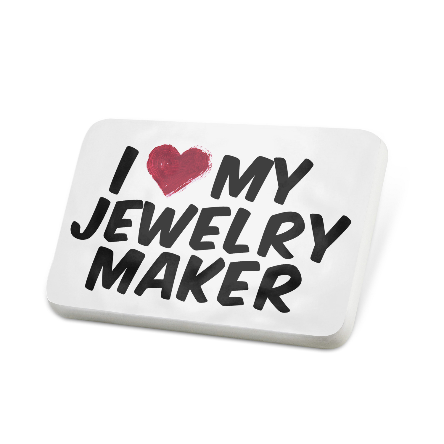Porcelein Pin I heart love my Jewelry Maker Lapel Badge – NEONBLOND