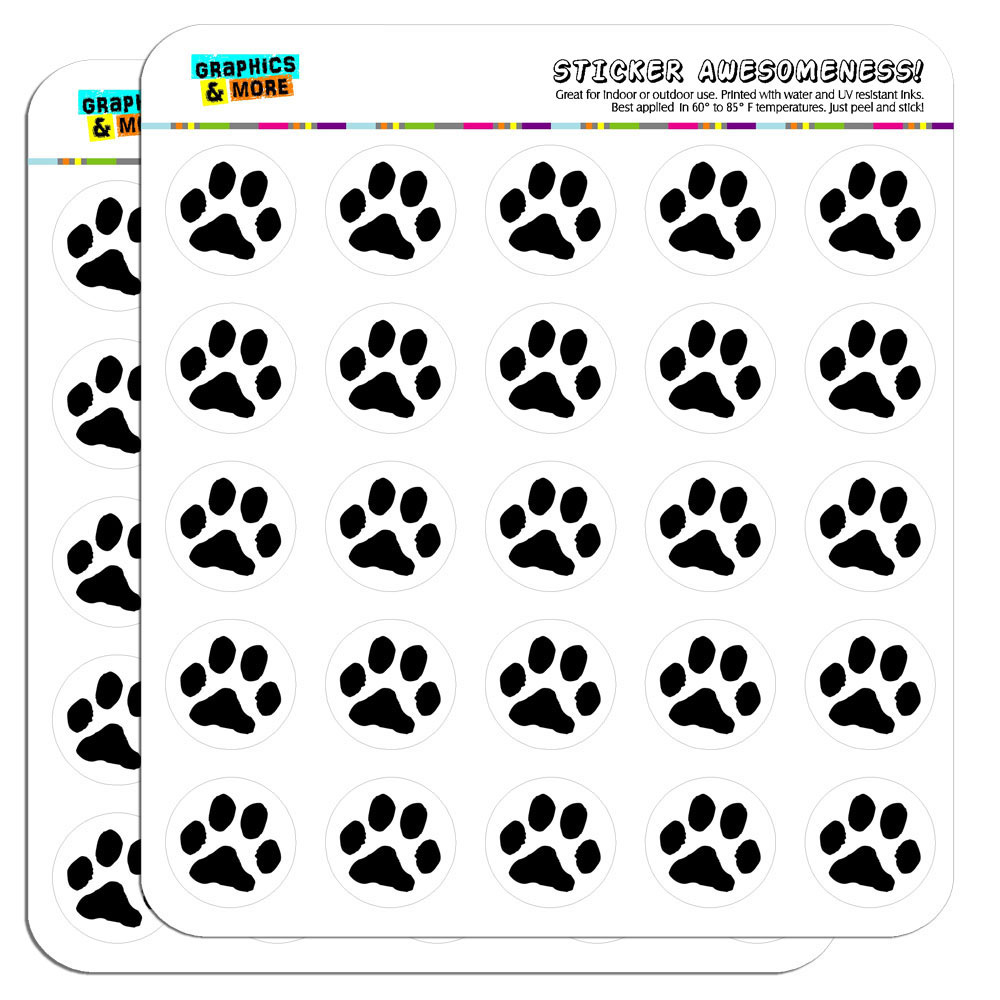Paw print pet dog cat 1 scrapbooking crafting stickers