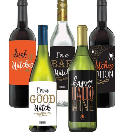 Wicked Halloween Bottle Labels 5ct