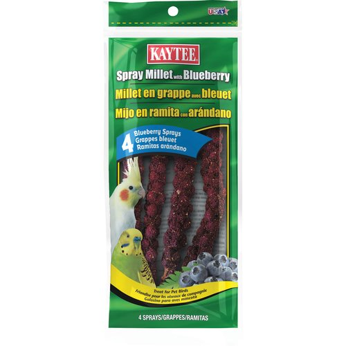 Kaytee Spray Millet, Blueberry, 4-Count