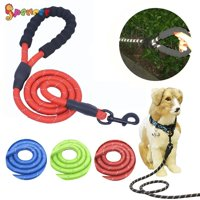 "Spencer 5ft Long Braided Reflective Rope Dog Leash, Heavy Duty Training Lead with Comfortable Padded Handle Pet Dog leashes for Medium Large Dogs ""Red"""