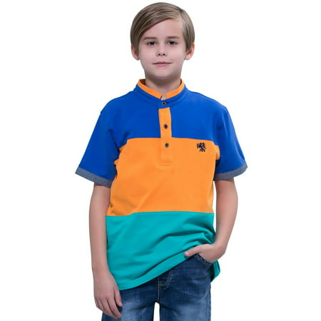 Casual Suits For Boys (Leo&Lily Boys Kids Sport Casual Cardigan Panels Polo Shirts)