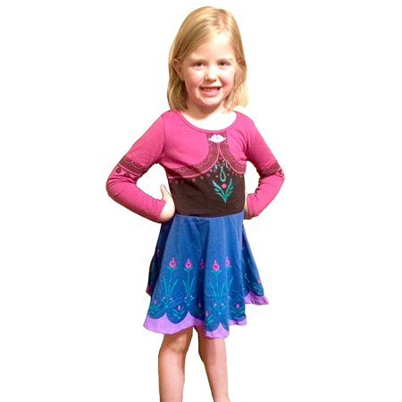 Frozen I Am Anna Toddlers Long Sleeve Dress - Anna Frozen Dress