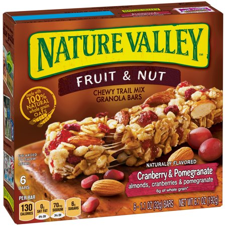 Nature Valley Cherry & Pomegranate Chewy Trail Mix Granola Bar 6.7 oz