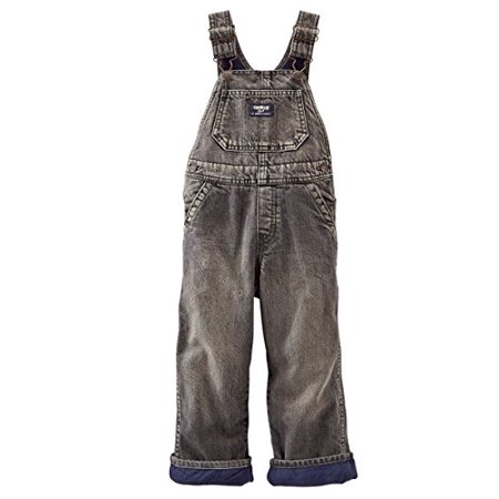 Oshkosh B'gosh Baby Boys' Fleece-Lined Overalls - Black Denim (6 Months) - Chucky Overalls For Toddlers