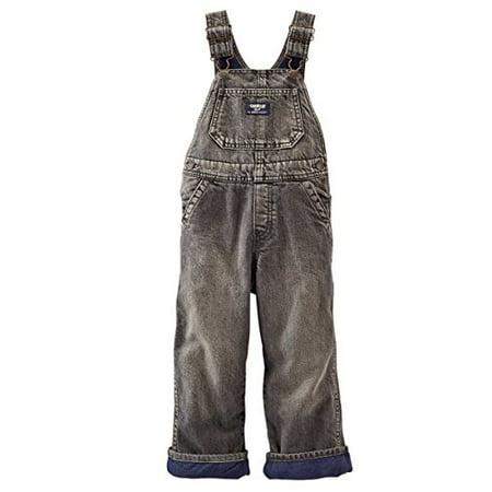 Conductor Overalls For Toddler (oshkosh b'gosh baby boys' fleece-lined overalls - black denim (6)