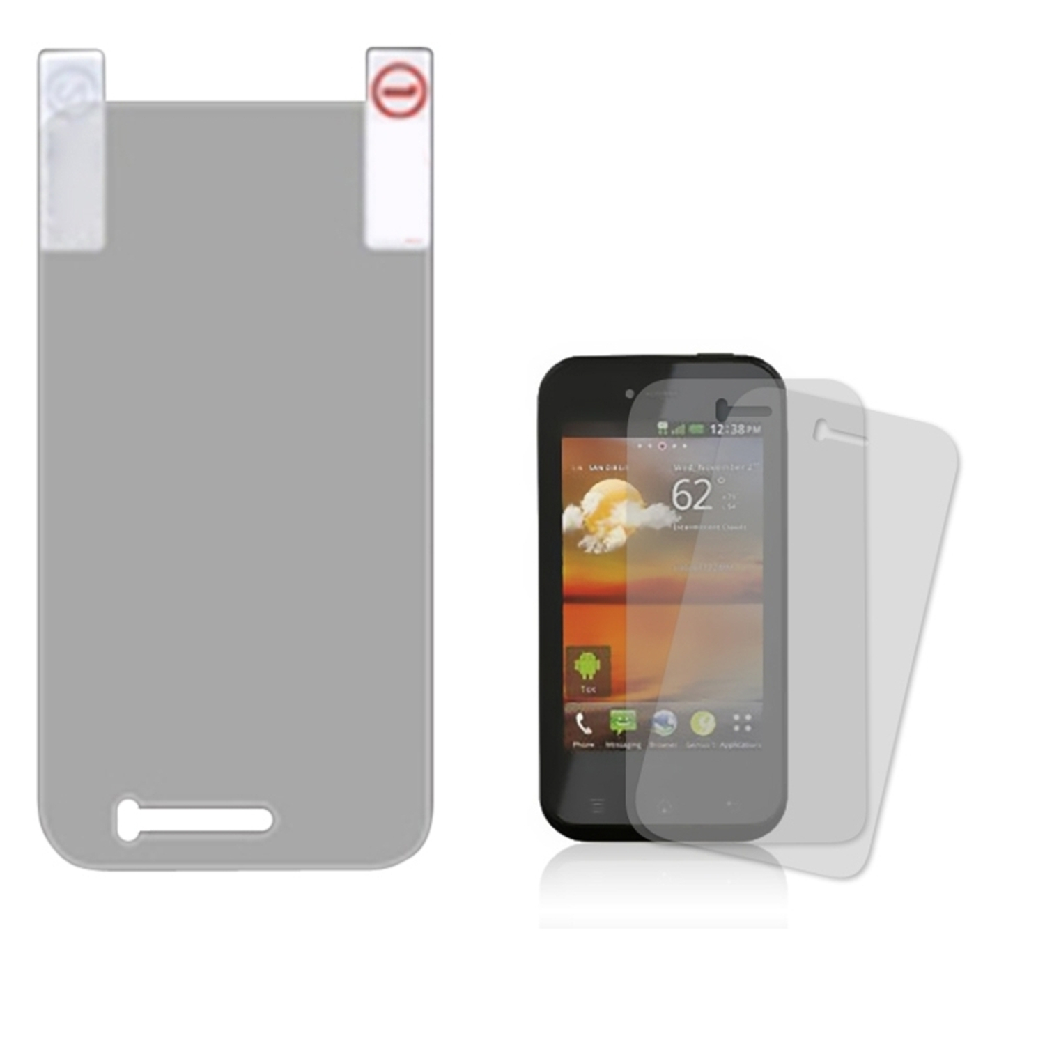 Insten Screen Protector Twin Pack For LG E739 myTouch