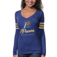 Indiana Pacers '47 Brand Womens Three Point Long Sleeve T-Shirt - Blue