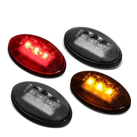 For 1999 to 2010 Ford F250 / F350 / F450 Super Duty LED Dually Bed Fender Side Marker Light Set 00 01 02 03 04 05 06 07 08