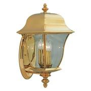 Designers Fountain Outdoor 1552-PVD-PB Gladiator Solid Brass Wall Lantern