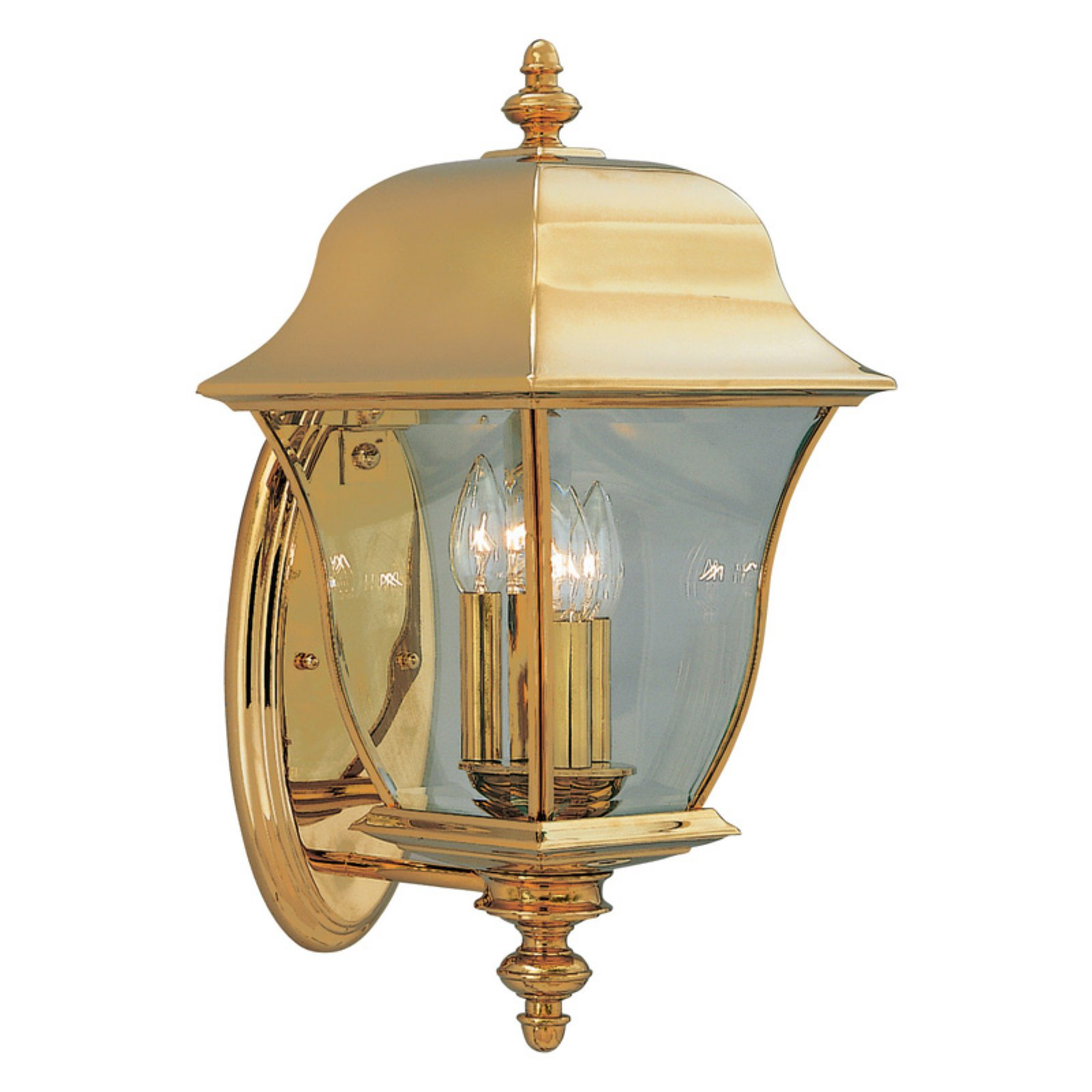 Designers Fountain Outdoor 1552-PVD-PB Gladiator Solid Brass Wall Lantern