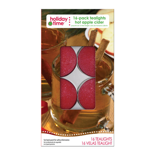 Holiday Time 16-Pack Tealights, Hot Apple Cider