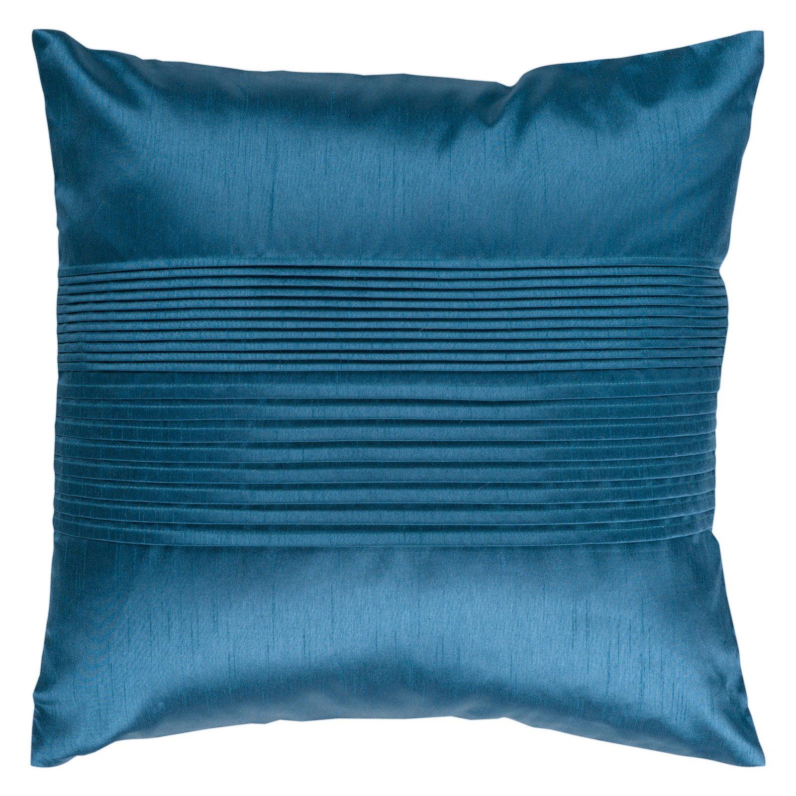 Surya Tracks Decorative Pillow - Teal Blue