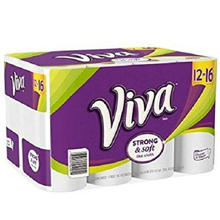 Paper Towel Big Rolls  88 Sheets  12 Rolls By Viva