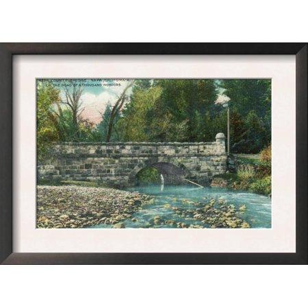 View of the Napa County Bridge - Napa, CA Framed Art Print Wall Art  - 18.5x13 - Halloween Store Napa Ca