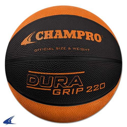 CHAMPRO Super Grip Rubber Basketball Women's Black/Orange