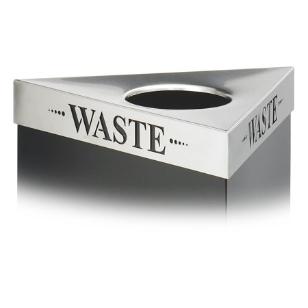- Safco 9560WA Trash Cans-Recycling Trifecta InWaste In Lid