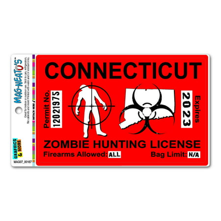 Connecticut ct zombie hunting license permit red for Ct fishing license