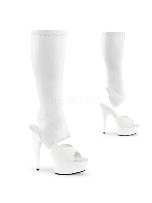 DEL2022/WPU/M Pleaser Platforms Exotic Dancing Knee High Boots Size: 7