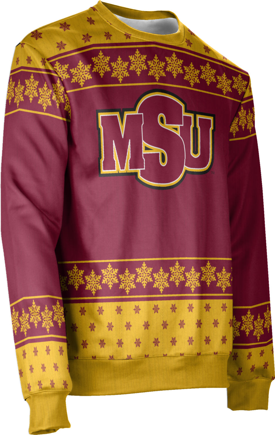 Men/'s Mississippi State University Ugly Holiday Snowflake Sweater Apparel