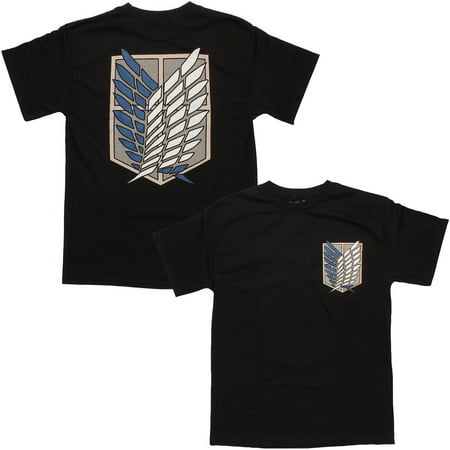 Attack On Titan Survey Corps T-Shirt Apparel T-Shirt - Black